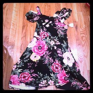 Dress NWT skater off shoulder dress